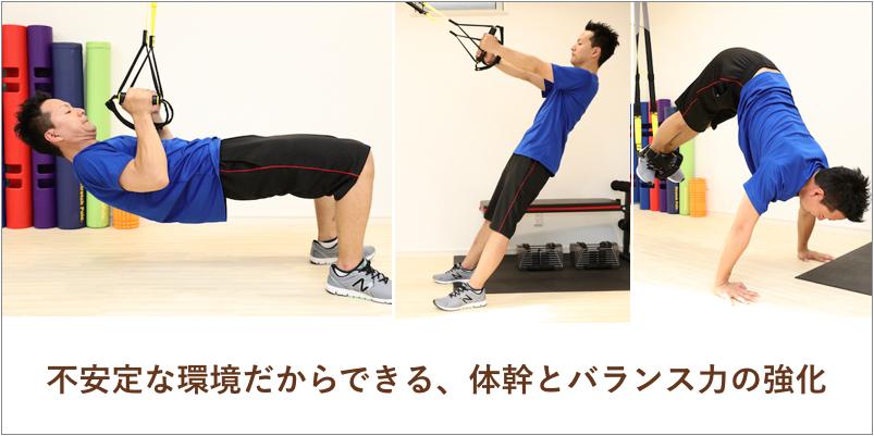 不安定な環境だからできる、体幹とバランス力の強化